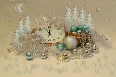 Año Nuevo y enhorabuena de la Navidad Fotografía de archivo