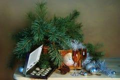 Año Nuevo y enhorabuena de la Navidad Fotos de archivo