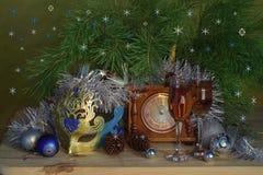 Año Nuevo y enhorabuena de la Navidad Imagenes de archivo