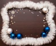 Año Nuevo y fondo de la Navidad con el espacio para su texto Imagen de archivo