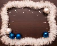 Año Nuevo y fondo de la Navidad con el espacio para su texto Fotografía de archivo libre de regalías