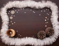 Año Nuevo y fondo de la Navidad con el espacio para su texto Foto de archivo libre de regalías