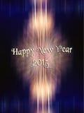 Año Nuevo 2015 y fondo del fuego artificial Fotos de archivo