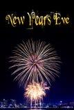 Año Nuevo 2015 y fondo del fuego artificial Imagen de archivo