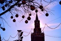 Año Nuevo y Kreml Imagen de archivo libre de regalías