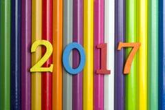 Año Nuevo y lápices Fotos de archivo