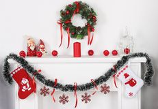 Año Nuevo y la chimenea blanca Imagenes de archivo
