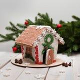 Año Nuevo y la Navidad del pan de jengibre Fotografía de archivo libre de regalías