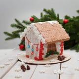 Año Nuevo y la Navidad del pan de jengibre Imagen de archivo
