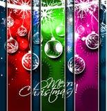 Año Nuevo y para el diseño colorido de la Navidad Imagen de archivo