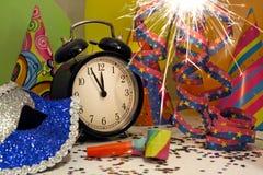 Año Nuevo y sparklers Foto de archivo libre de regalías
