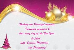 Año Nuevo y tarjeta de felicitación china también para la impresión Fotografía de archivo