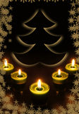 Año Nuevo y tarjeta de felicitación de la Navidad Imágenes de archivo libres de regalías
