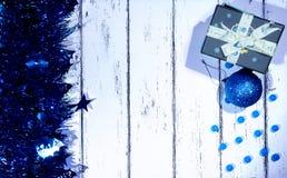 Año Nuevo y tarjeta de Navidad Fotografía de archivo libre de regalías