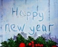 Año Nuevo y tarjeta de Navidad Imagenes de archivo