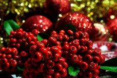 Año Nuevo y tarjeta de Navidad Fotos de archivo