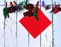 Año Nuevo y tarjeta de Navidad Imágenes de archivo libres de regalías