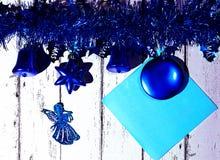 Año Nuevo y tarjeta de Navidad Fotos de archivo libres de regalías