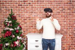 Año Nuevo y VR Foto de archivo libre de regalías