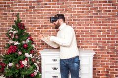 Año Nuevo y VR Imagenes de archivo