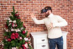 Año Nuevo y VR Imagen de archivo libre de regalías