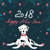 Año Nuevo, 18 Yoga-perro Foto de archivo