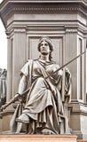 Año 1876. Pedestal del monumento a rey Frederick Augustus I Imagenes de archivo