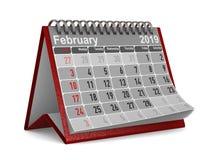 2019 años Calendario para febrero Ejemplo aislado 3d ilustración del vector