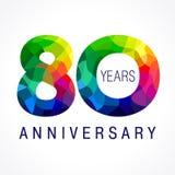 80 años coloreados Foto de archivo libre de regalías
