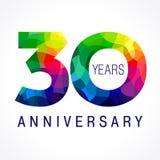 30 años coloreados Stock de ilustración