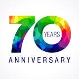 70 años coloreados ilustración del vector