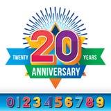 20 años de aniversario stock de ilustración