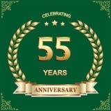 55 años de aniversario, cumpleaños, fondo Ilustración del vector libre illustration