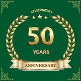 50 años de aniversario, cumpleaños, fondo Ilustración del vector ilustración del vector