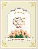 65 años de aniversario, feliz cumpleaños, celebración, tarjeta de felicitación, fondo, días de fiesta libre illustration