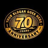 70 años de celebración del aniversario 70.o diseño del logotipo del aniversario Setenta años de logotipo libre illustration