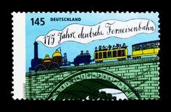 175 años de ferrocarril remoto alemán, serie, circa 2014 Foto de archivo libre de regalías