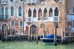 300 años de la fachada veneciana del palacio del canal grande Foto de archivo libre de regalías