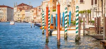 300 años de la fachada veneciana del palacio del canal grande Fotografía de archivo libre de regalías