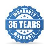 35 años de la garantía de icono del vector Imagen de archivo