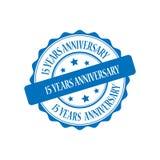 15 años del aniversario de ejemplo del sello Fotografía de archivo libre de regalías