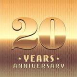 20 años del aniversario de icono del vector, símbolo Fotos de archivo