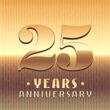 25 años del aniversario de icono del vector, símbolo Imagenes de archivo