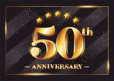50 años del aniversario de la celebración de logotipo del vector Imagen de archivo libre de regalías