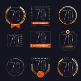 70 años del aniversario de sistema del logotipo Fotos de archivo