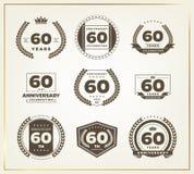 60 años del aniversario de sistema del logotipo Foto de archivo