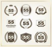 55 años del aniversario de sistema del logotipo Foto de archivo
