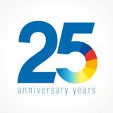 25 años del logotipo Ilustración del Vector