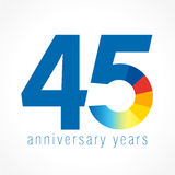 45 años del logotipo Fotos de archivo