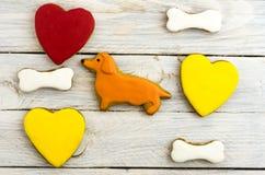 2018 años del perro amarillo Celebración del año del perro Imágenes de archivo libres de regalías